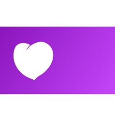 White heart on purple background vector