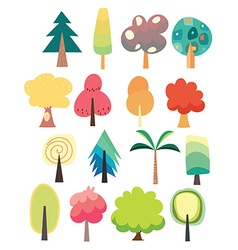 Cute tree set vector