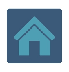 Home flat cyan and blue colors rounded button vector