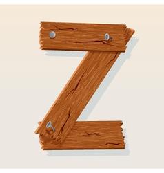Wooden letter z vector