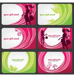 fashion discount cards vector image