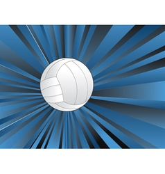 Volleyball ball on rays background vector
