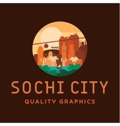 Sochi city logo of buildings vector image