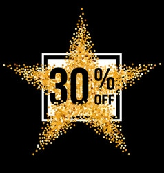 Golden star discount vector