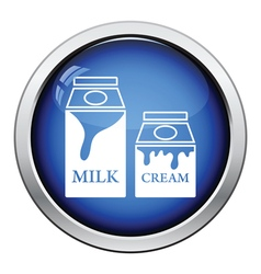 Milk and cream container icon vector