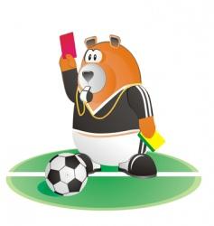 Bear soccer umpire vector