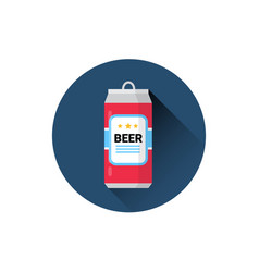 beer can icon oktoberfest festival holiday concept vector image