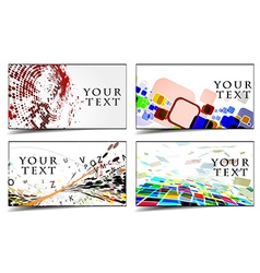 business gift cards design vector image