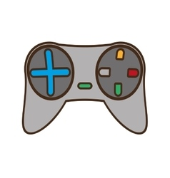 Cartoon gray control console game vector
