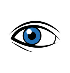 Comic blue eye look optical style vector