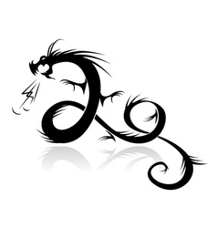 Dragon tattoo for your design vector image vector image