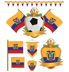 Ecuador flags vector
