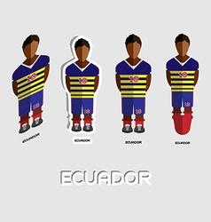 Ecuador soccer team sportswear template vector