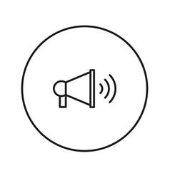 Megaphone icon silhouette vector