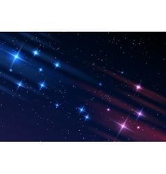 Night sky galaxy stars vector image