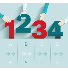 Number options template can be used for workflow vector