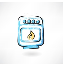 oven grunge icon vector image vector image