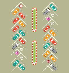 Parking zone conceptual vector