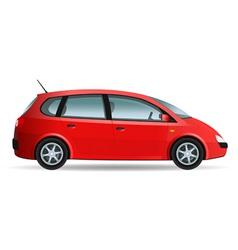Red minivan vector