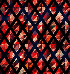 ruby color mosaic seamless pattern with grunge vector image vector image