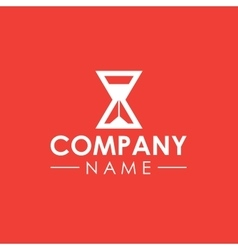 Sand clock company logo template vector