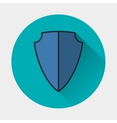 Shield icon armor symbol vector