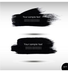 Splash banners set vector image vector image