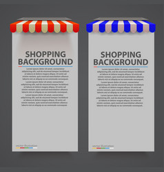 store striped awning modern banner vector image