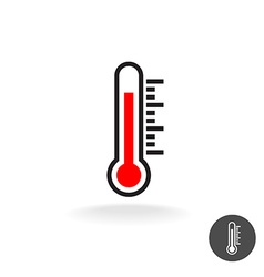 Thermometer scale sign vector image