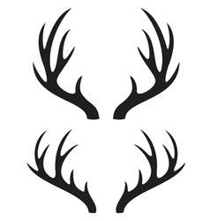 Deer horns vector