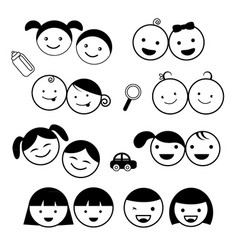 Kids icons set vector