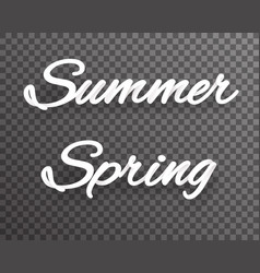 Summer spring shaded text template realistic 3d vector