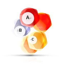 Glass modern geometrical hexagon abstract vector
