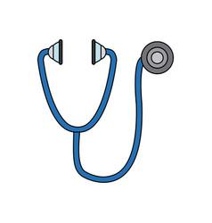 Stethoscope medical equipment pulse health element vector
