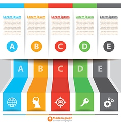 Modern banner infographic vector image