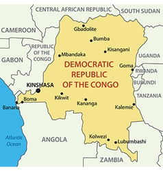 Democratic republic of the congo - map vector