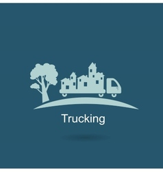Trucking houses icon vector