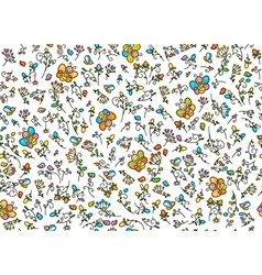 insects flora vector image