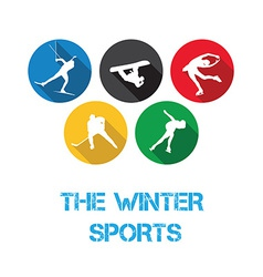 The winter sports vector