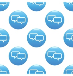 Chatting sign pattern vector