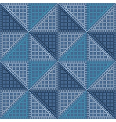 Seamless pattern with blue rhombus vector