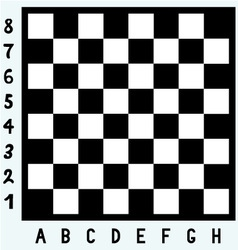 Modern chess board vector image