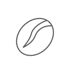 Coffee bean line icon vector