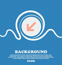 Turn to full screen sign icon blue and white vector