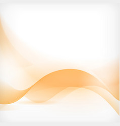 Abstract orange wave background vector image vector image