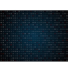 Binary computer code repeating background vector image vector image