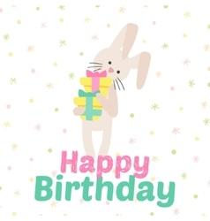 Birthday celebration bunny icons vector