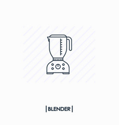 blender outline icon isolated vector image