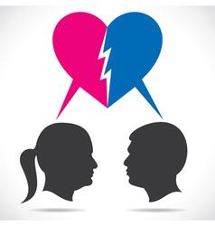 Breakup couple vector