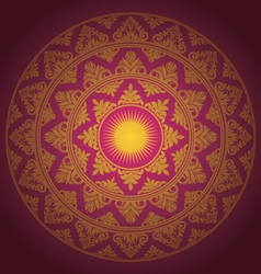 Circle Ornament Decorative vector image